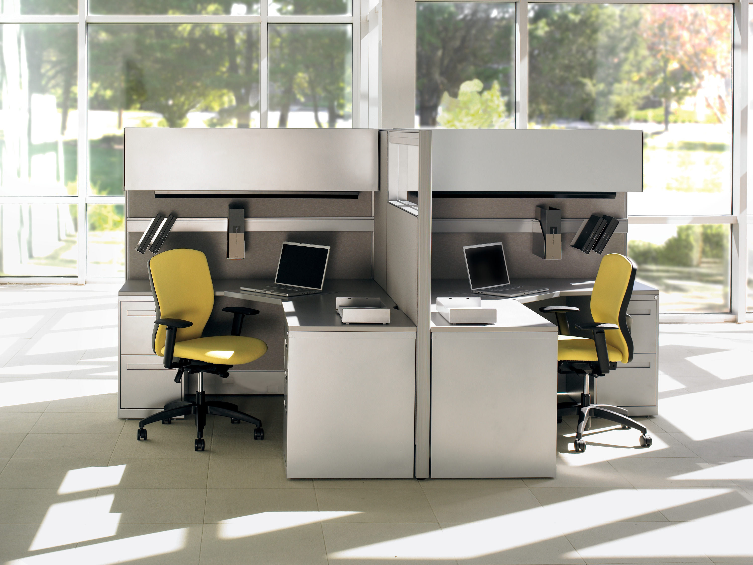Teknion Cubicle Furniture - Cluster of 4