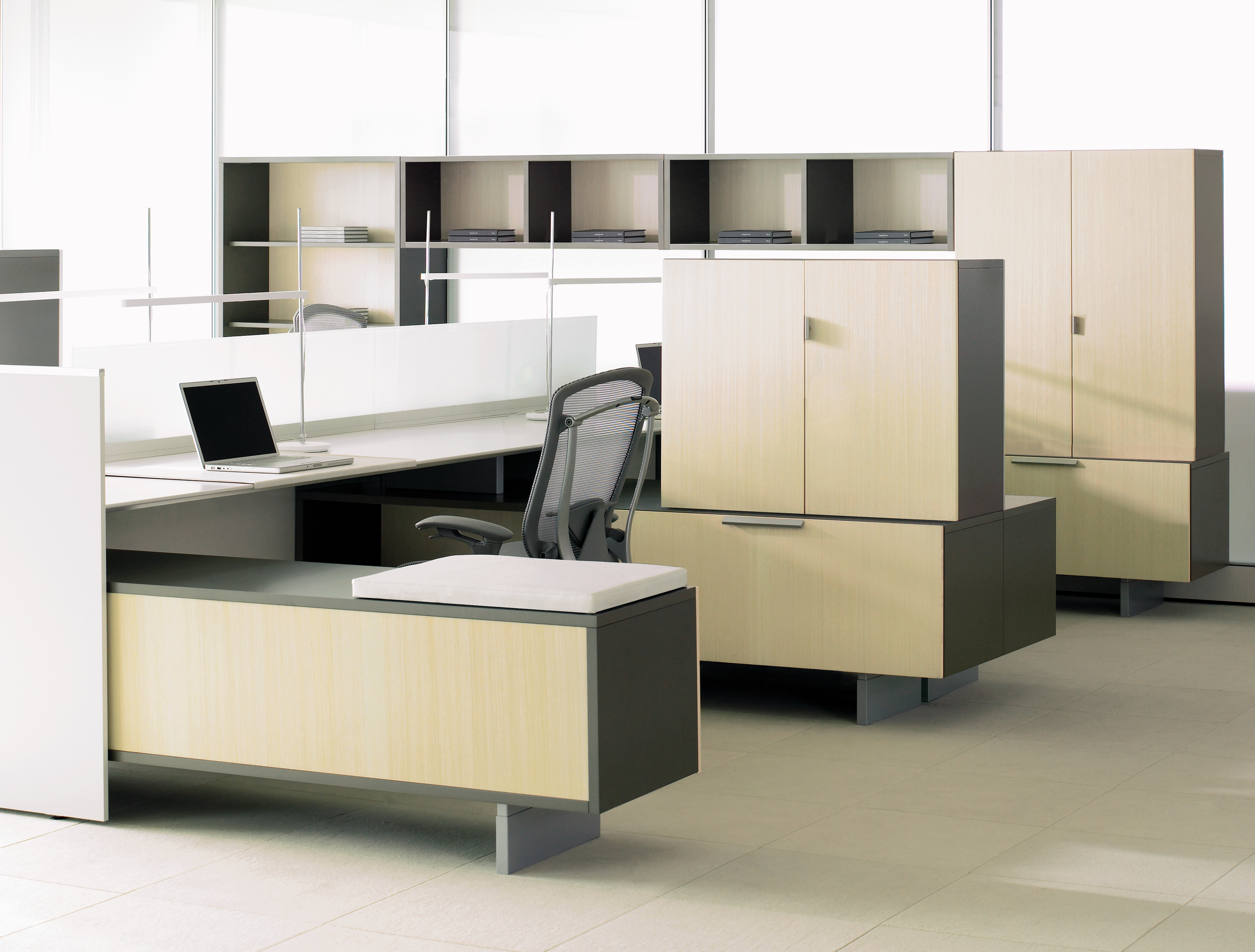 District Wood Office Credenzas