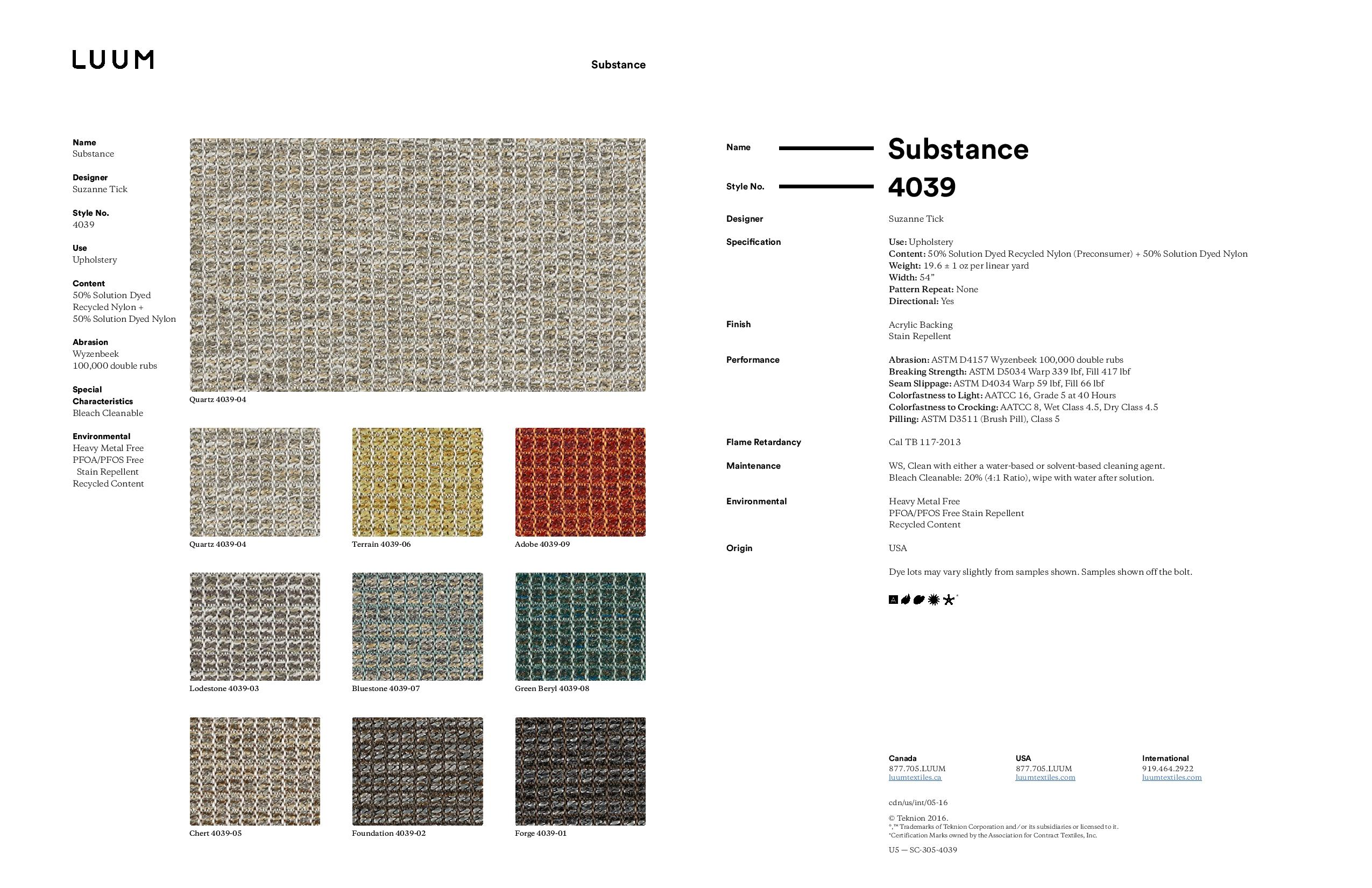 Substance - Quartz - 4039 - 04 Sample Card