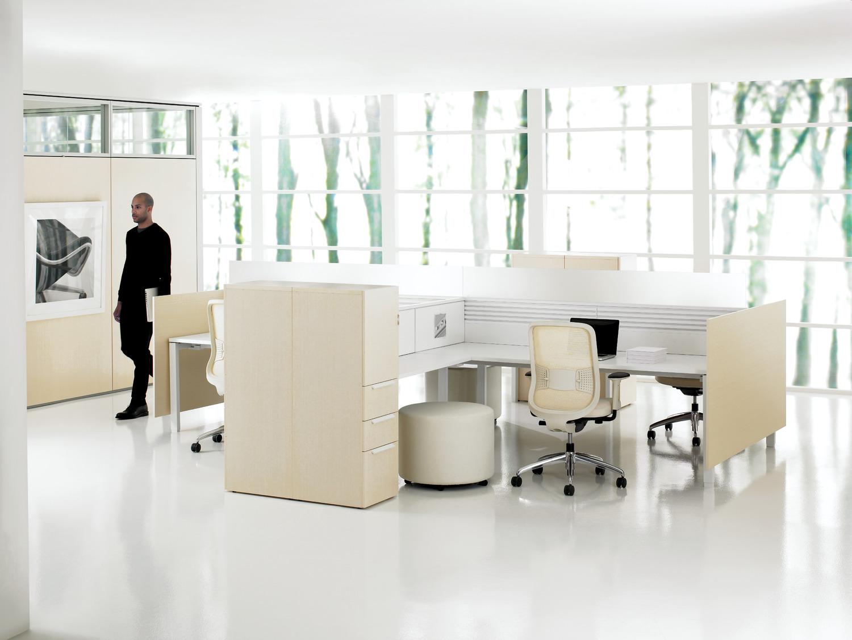 Interpret Desks with Office Storage Lockers