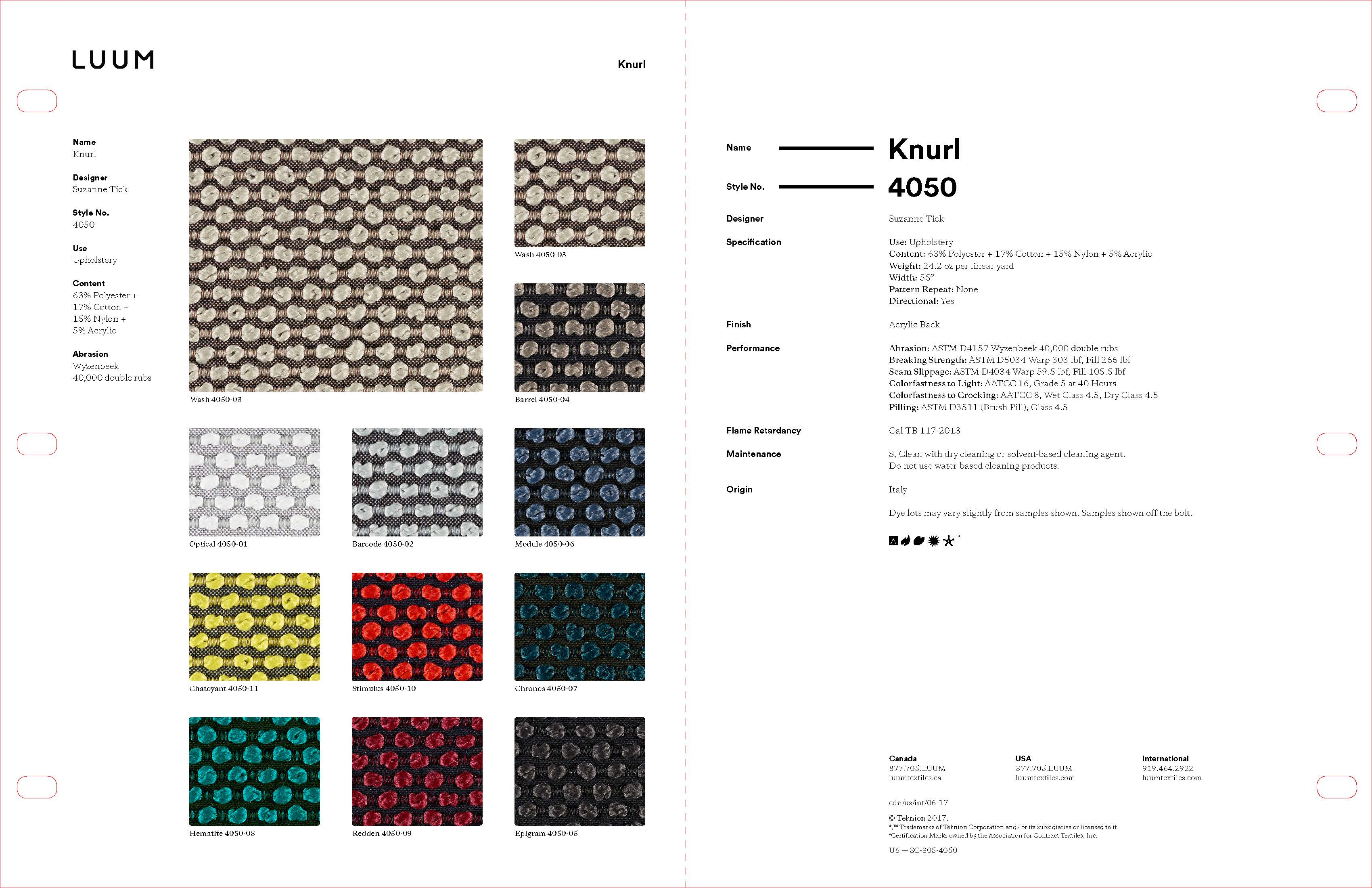Knurl - Hematite - 4050 - 08 Sample Card