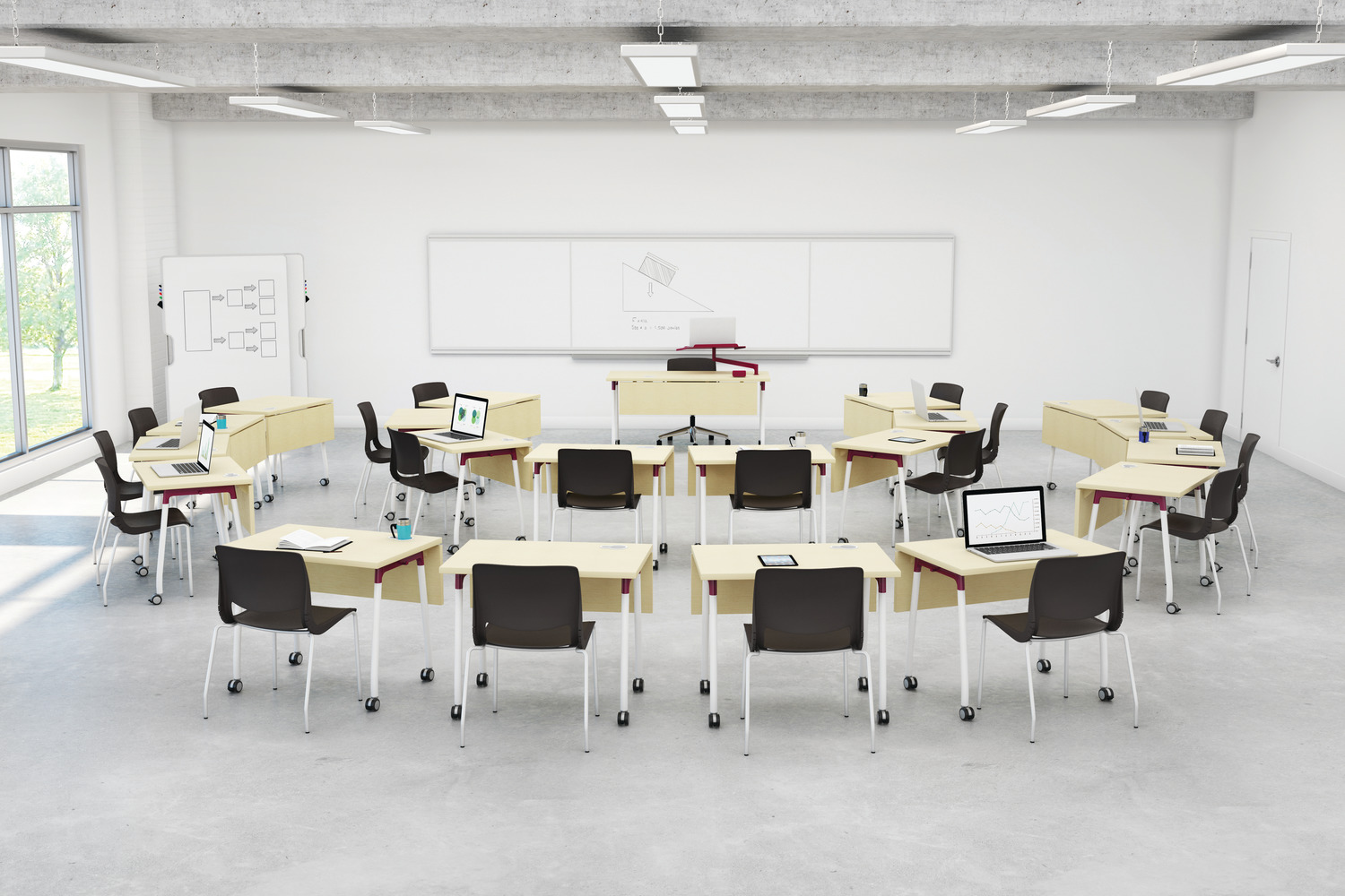 Collaborative Setting Classroom ~ Education classroom