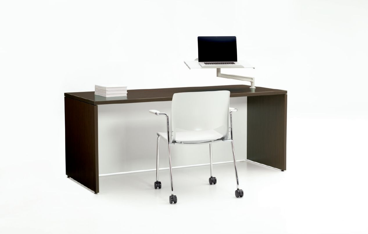 Thesis Rectangular Instructor Desk - Inside view with chair