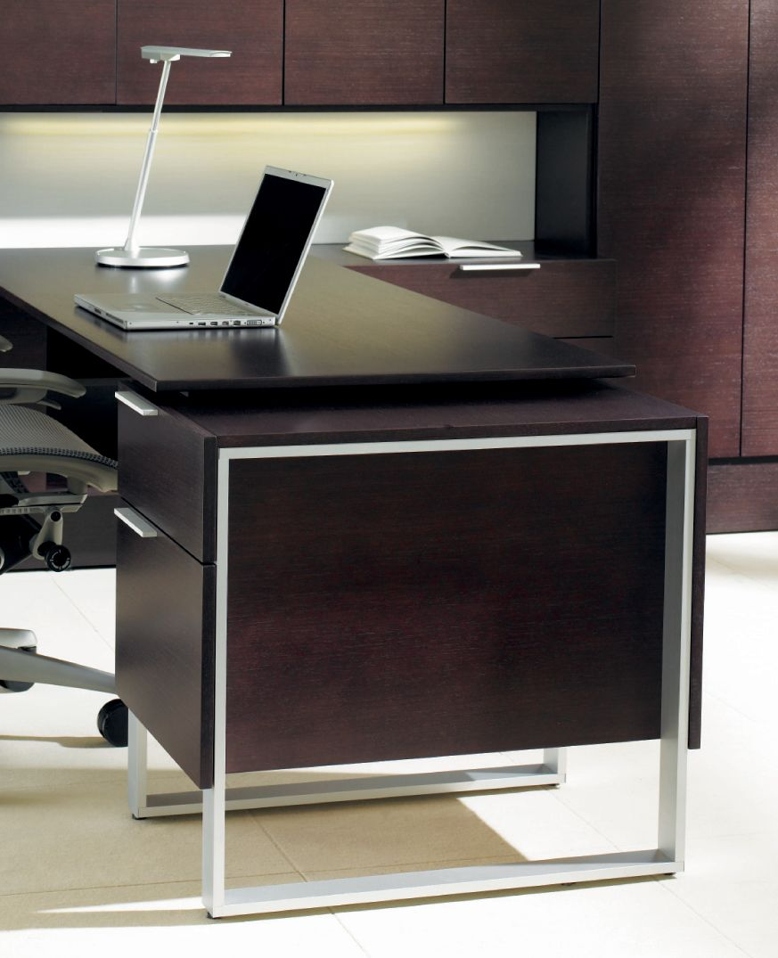 Foundations Dark Wood Executive Desk