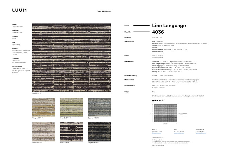 Line Language - Graphite - 4036 - 03 - Half Yard Sample Card