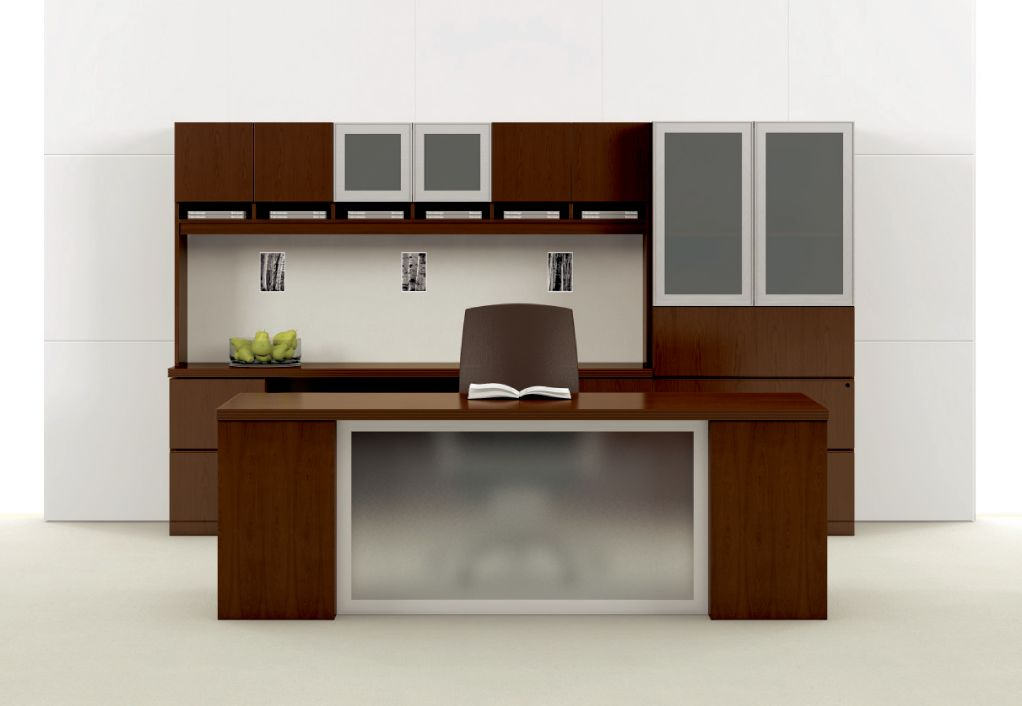 Volterra Executive Desk with Glass