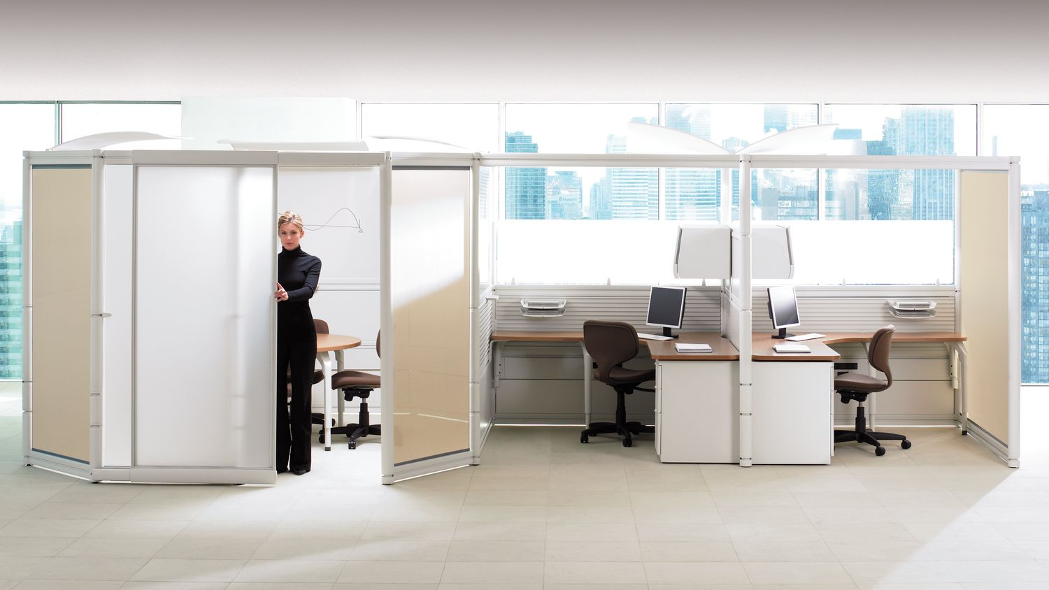 ie Office Partitions with Sliding Doors