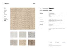 Makah - Luminous - 1012 - 02 Sample Card