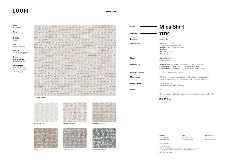 Mica Shift - Optimum - 7014 - 02 Sample Card