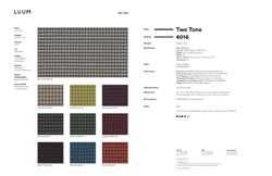 Two Tone - The Beat - 4016 - 10 Sample Card