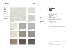 Lustrado - Glassine - 1020 - 01 - Half Yard Sample Card