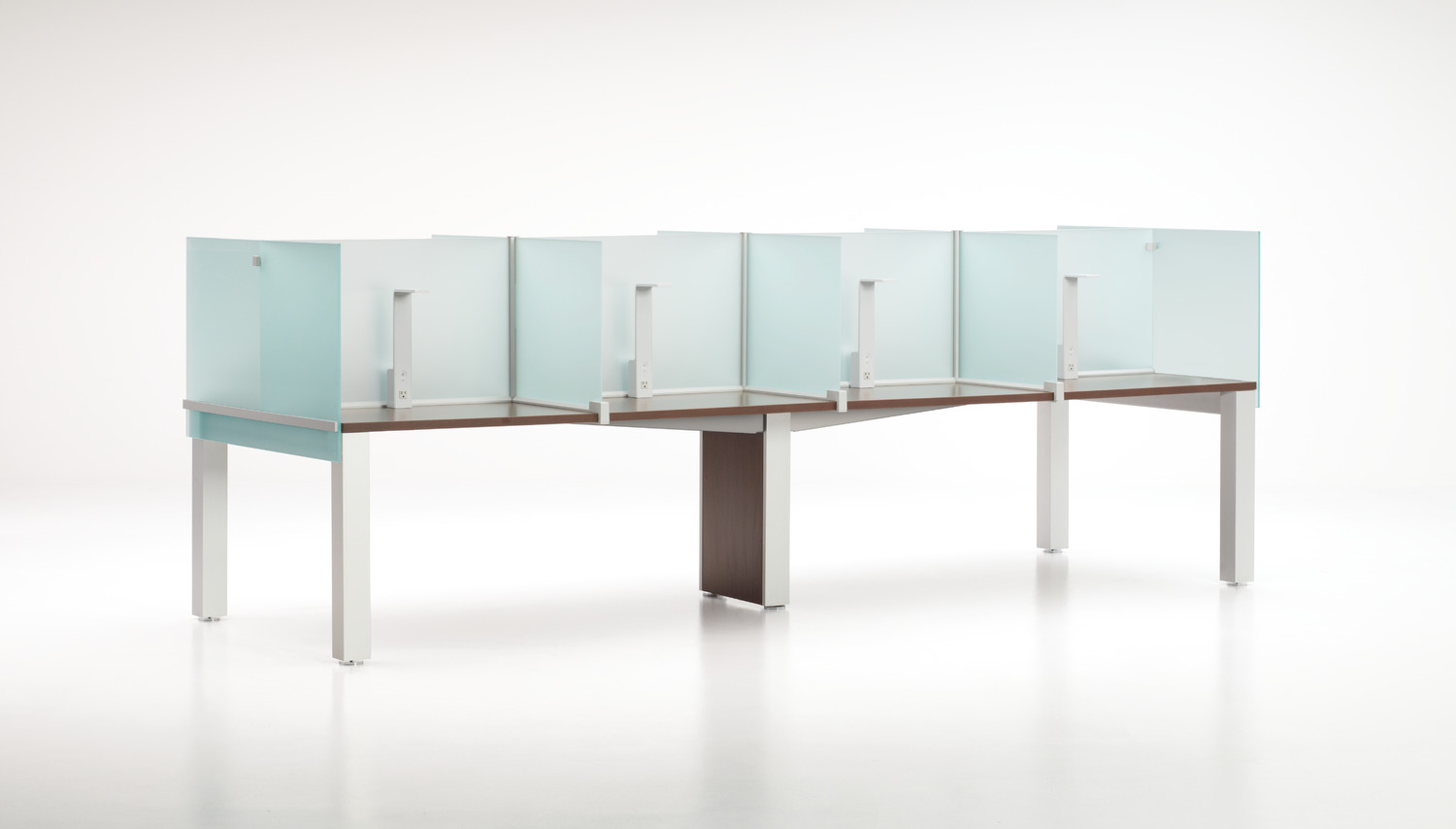 Thesis Library Tables with Glass Carrels