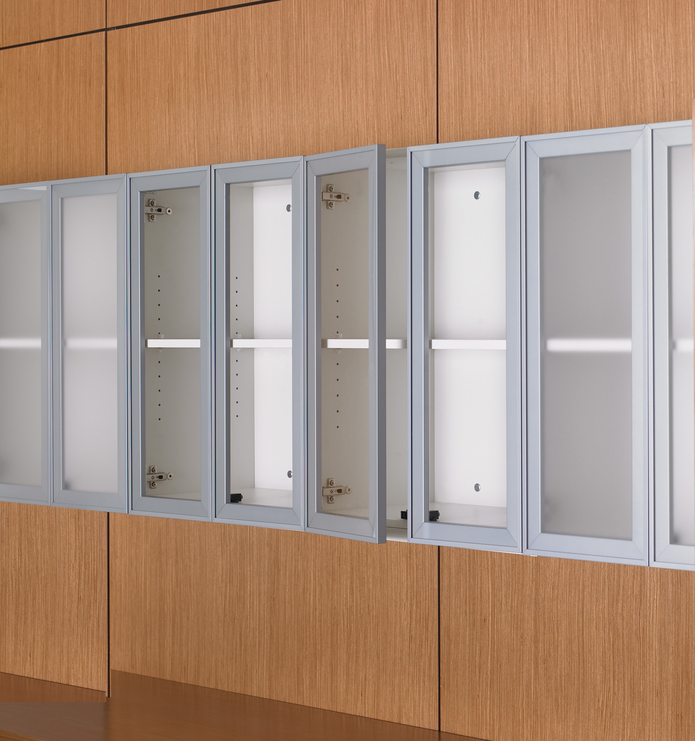 Modular Cabinets Wall Cabinet with Glass Doors