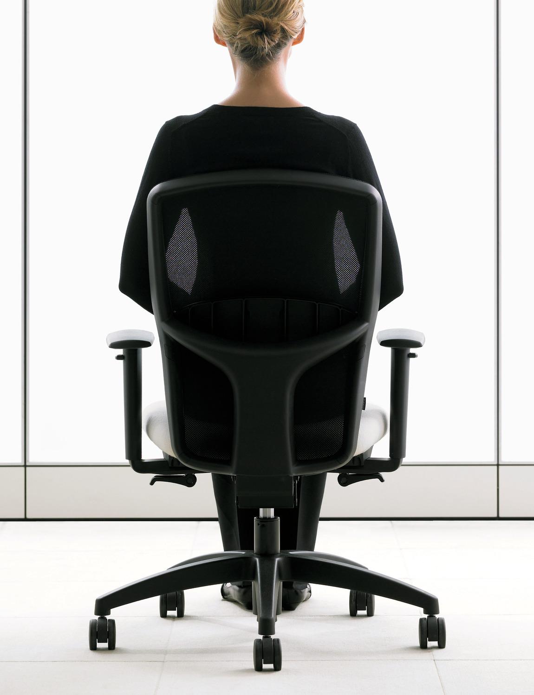 T3 Task Chair - Back View - Brochure Cover - Black Mesh Back.tif