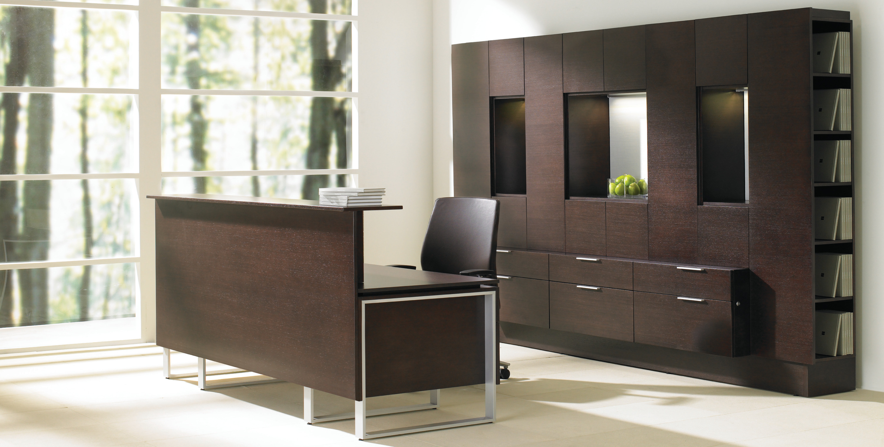 Foundations Dark Wood Reception Furniture