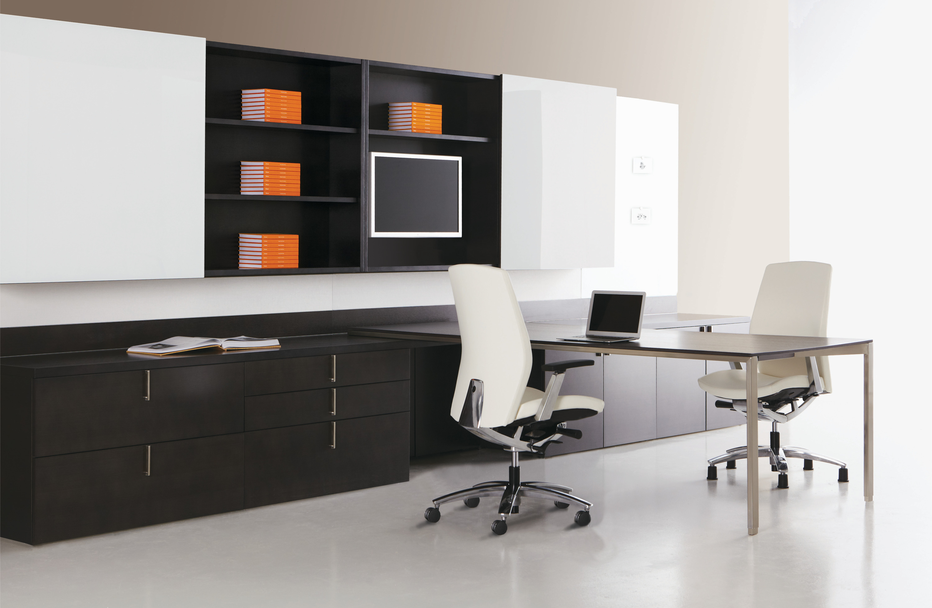 Dossier Modern Black and White Executive Office Furniture