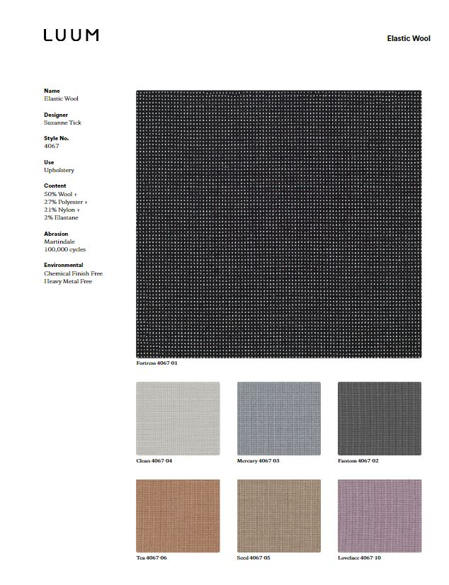 Elastic Wool - Mercury - 4067 - 03 Sample Card