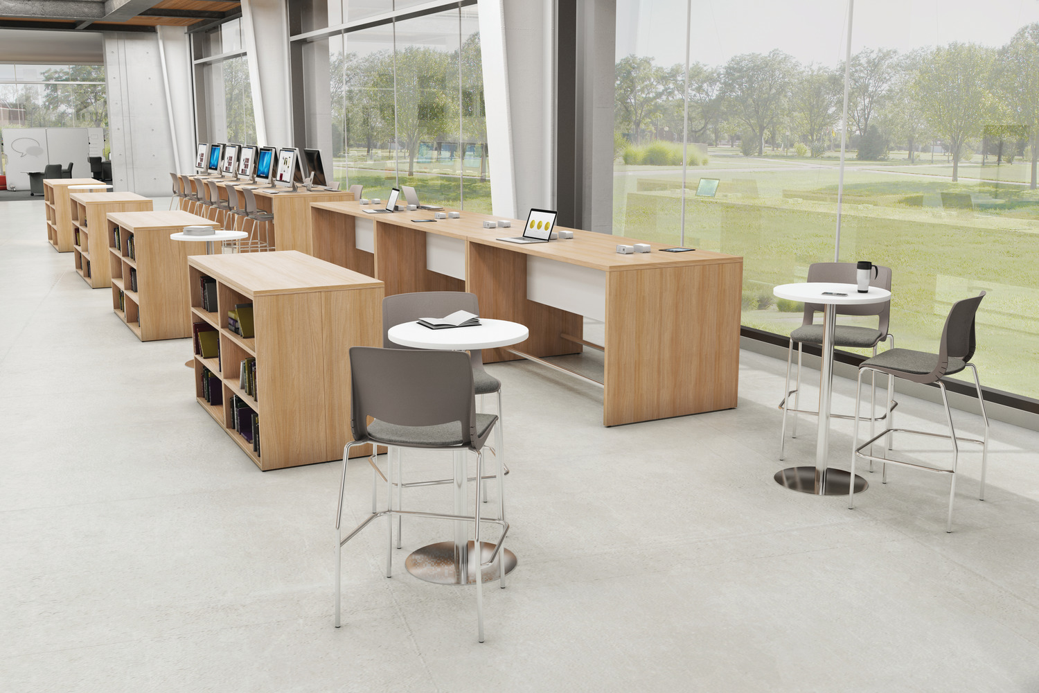 Education Library - Standing cafe table