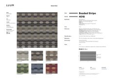 Beaded Stripe - Crystal - 4018 - 02 Sample Card