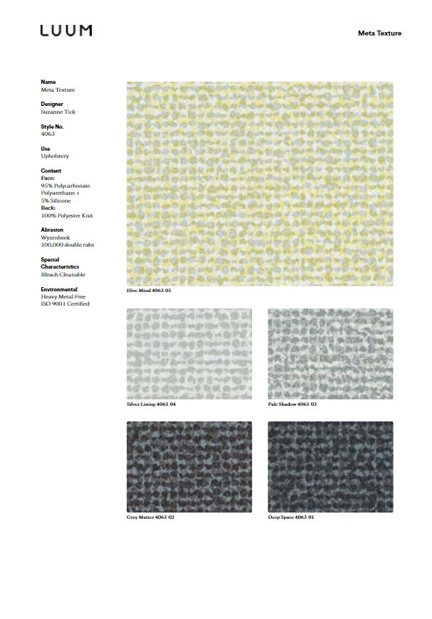 Meta Texture - 4063 Sample Card